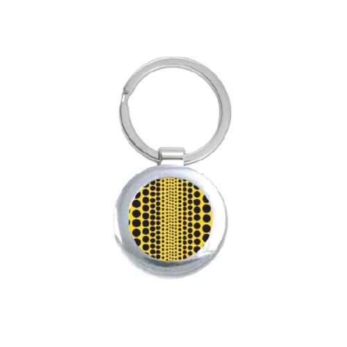 Yayoi Kusama Black Polka Dot Round Keychain