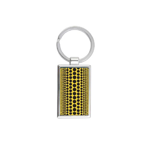 Yayoi Kusama Black Polka Dot Rectangle Keychain