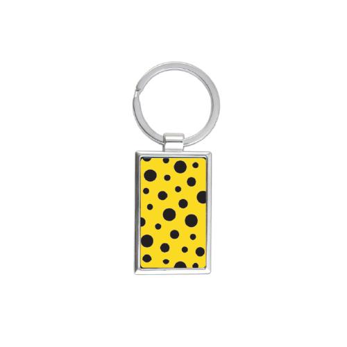 Yayoi Kusama Yellow Polka Dot Rectangle Keychain