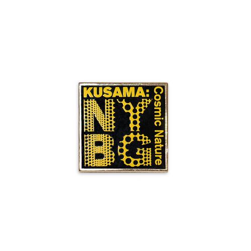 Yayoi Kusama Black NYBG Enamel Pin