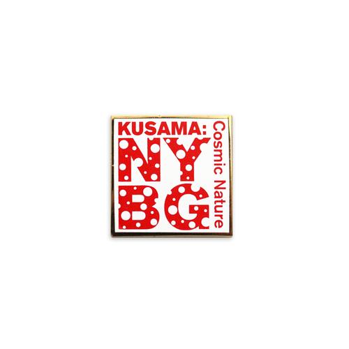 Yayoi Kusama White NYBG Enamel Pin