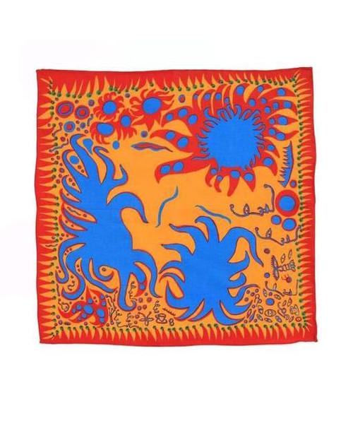 Yayoi Kusama Joy I Feel Handkerchief