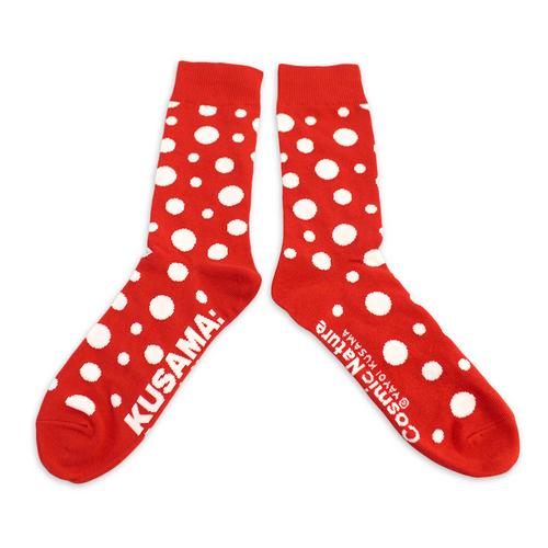 Yayoi Kusama Red Cosmic Nature Socks