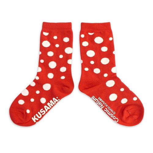 Yayoi Kusama Youth Red Cosmic Nature Socks