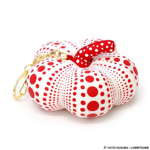 Yayoi Kusama Soft Red Pumpkin Keychain