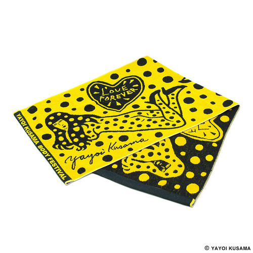 Yayoi Kusama Yellow Body Festival Towel