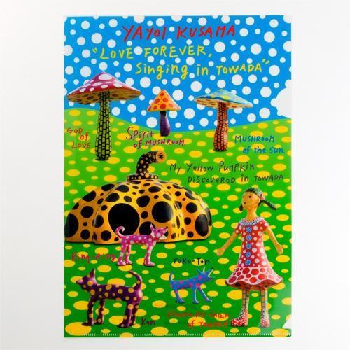 Yayoi Kusama Mushroom Plastic Folder