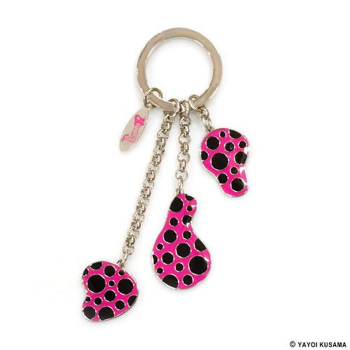 Yayoi Kusama Pink Dots Obsession Keyring