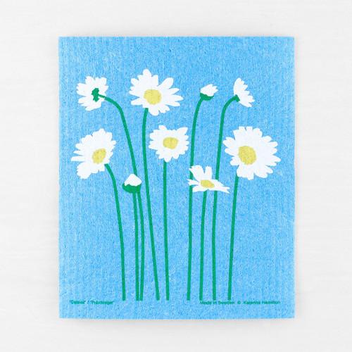 Blue Daisy Garden Dish Cloth