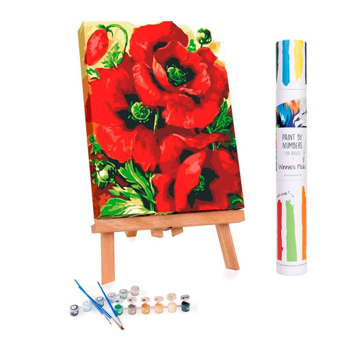 Red Poppies Paint By Numbers Kit