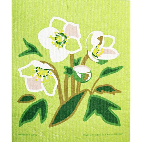 Green Hellebore Dish Cloth