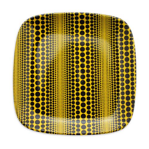 Yayo Kusama Black Stripe Polka Dot Melamine Dish