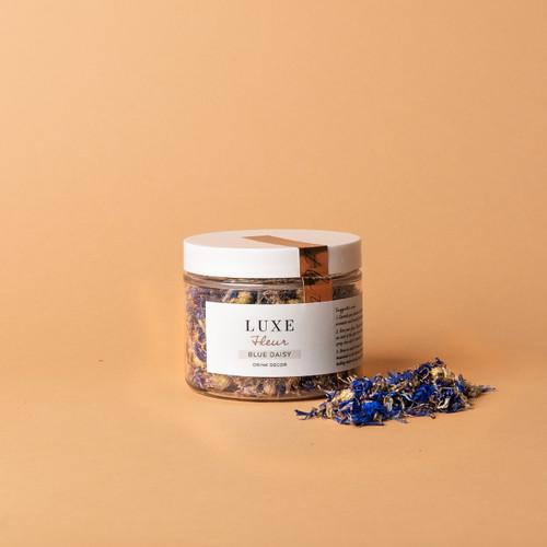 Blue Daisy Petal Jar