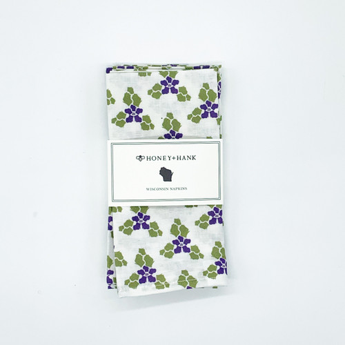 Wisconsin Violets Napkin Set