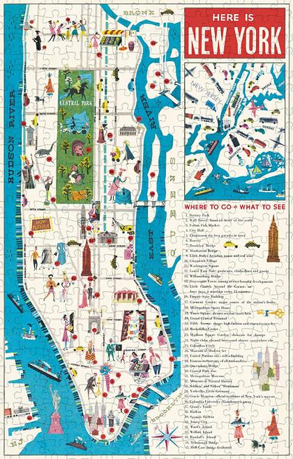 Cavallini & Co - NYC Map Puzzle