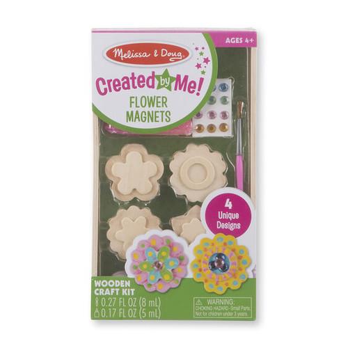 Flower Magnets Wooden Craft Kit