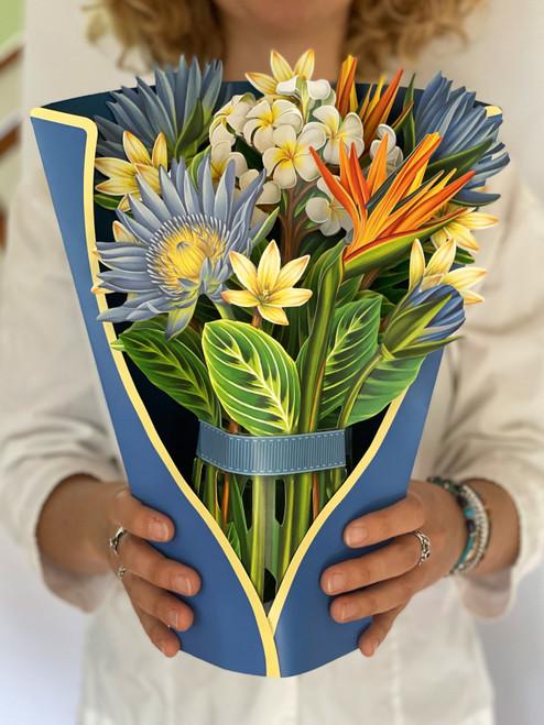 Tropical Bloom Bouquet Card