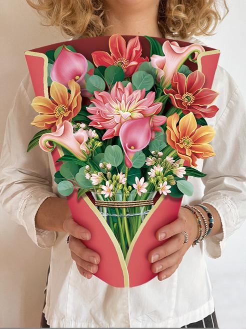 Dahlia Bouquet Card
