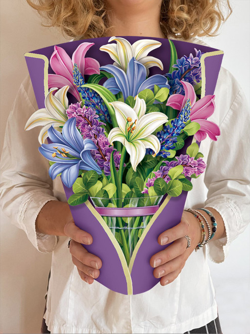 Lilies & Lupines Bouquet Card