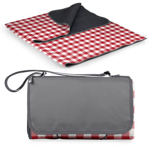 Red and White Picnic Blanket Tote
