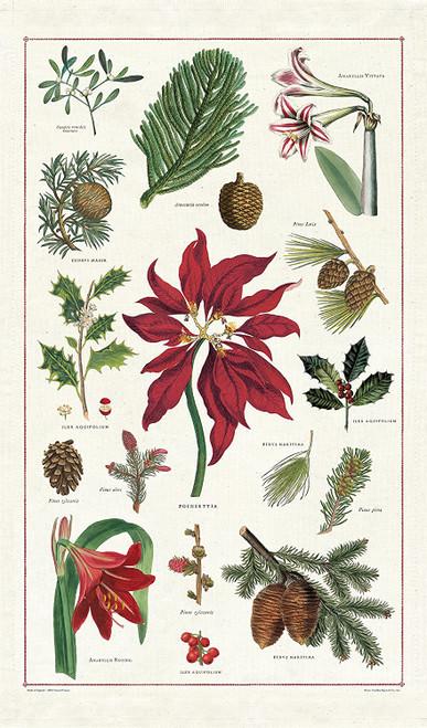 Botanical Holiday Tea Towel