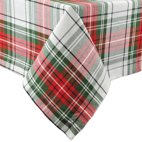Plaid Holiday Tablecloth