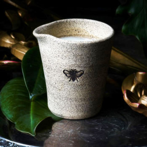 Bee Illuminated Lotion Candle in a Stoneware Pot
