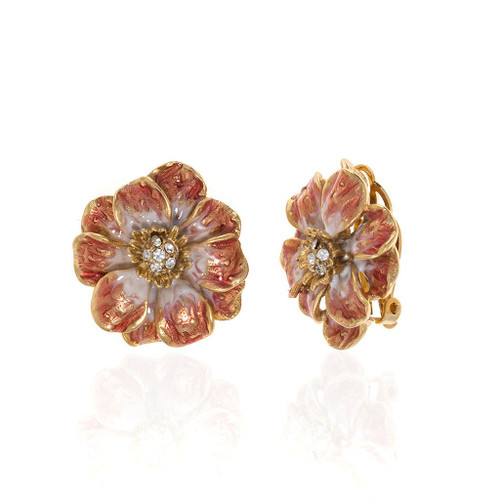 Erwin Pearl x NYBG Les Roses Earrings - Melon