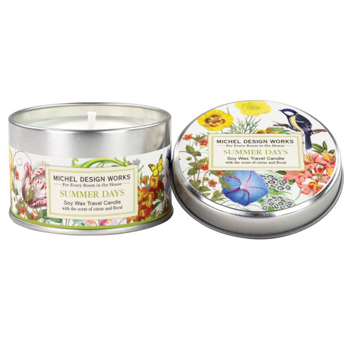 Summer Days Tin Travel Candle