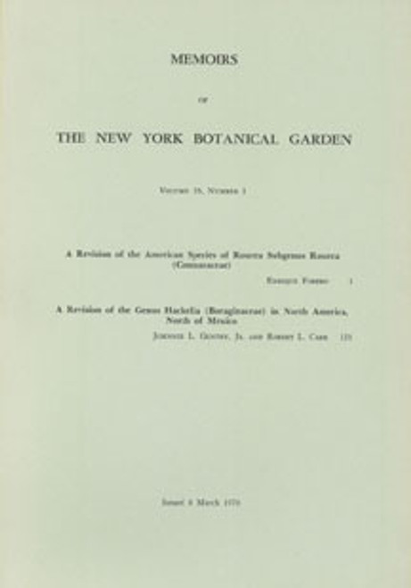 A Revision of the American Species of Rourea Subgenus Rourea. Mem (26)1
