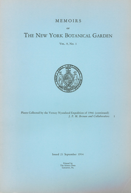 Plants Collected by the Vernay Nyasaland Expedition of 1946. Mem (9)1
