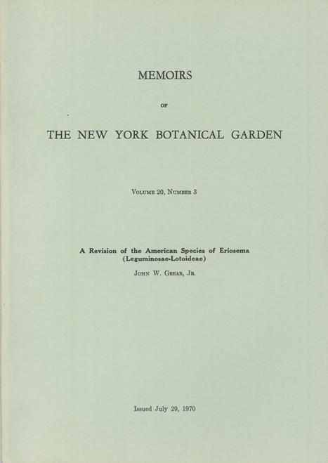 A Revision of the American Species Eriosema (Leguminosae-Lotoideae). Mem (20)3