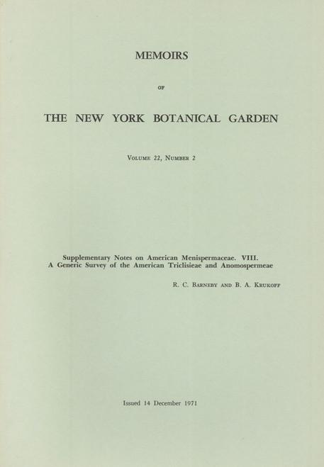 Supplementary Notes on American Menispermaceae. VIII. Mem (22)2