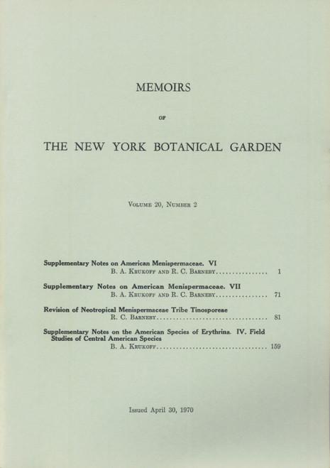 Supplementary Notes on American Menispermaceae. Mem (20)2