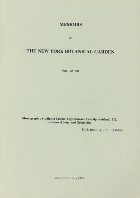 Monographic Studies in Cassia (Leguminosae Caesalpinioideae). Mem (30)