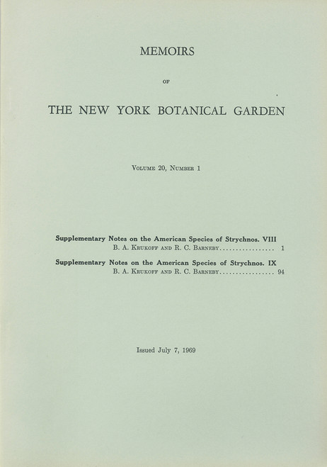 Supplementary Notes on the American Species of Strychnos. Mem (20)1