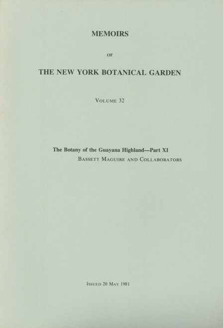The Botany of the Guayana Highland. Part XI. Mem (32)