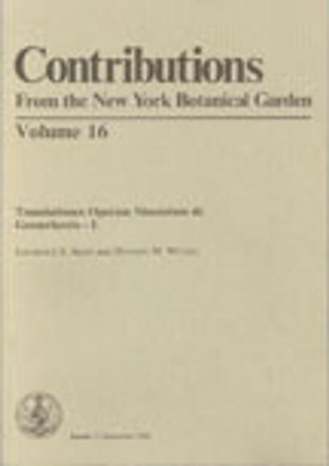 Translationes Operum Sinensium de Gesneriaceis. Contributions (16)