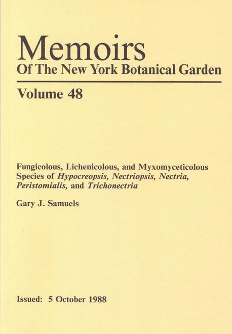 Fungicolous, Lichenicolous, and Myxomyceticolous Species. Mem (48)