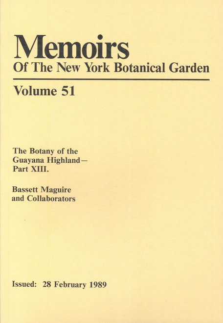 The Botany of the Guayana Highland. Part XIII. Mem (51)