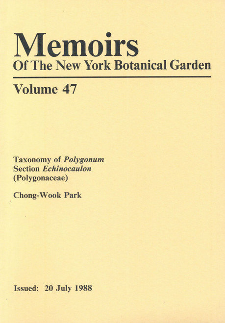 Taxonomy of Polygonum Section Echinocaulon (Polygonaceae). Mem (47)