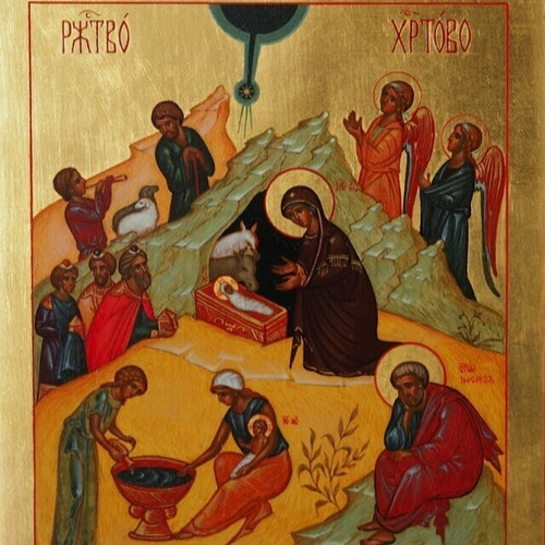 This icon was painted in the Orthodox parish icon workshop in Kondopoga, NW Russia. The parish runs several very successful children's and social programmes, which are supported by St Gregory's Foundation. Each pack has ten cards, blank, 155 x 108 mm, envelopes included.