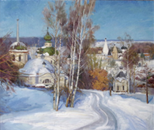 Russian Town in Winter cards  (pack of 10)