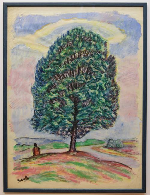 'Tree' by K.Bokov, private collection, 48 x 63cm, framed.