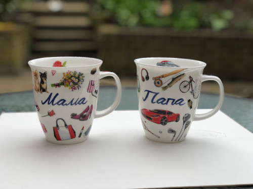 Dunoon fine bone china mugs are handcrafted in Staffordshire, England.This is one of Dunoon limited edition with Russian text. Show your father that he is the best with this 'Папа' mug.