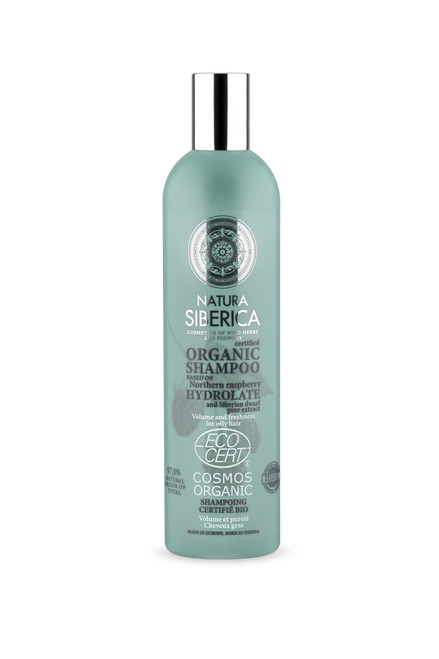 Natura Siberica Volume and Freshness Shampoo for oily hair, 400 ml.This shampoo, based on organic northern raspberry hydrolat, gives your hair sensational volume and bounce.