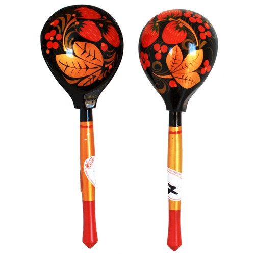 Wooden Spoon Handmade in Russia Khokhloma style