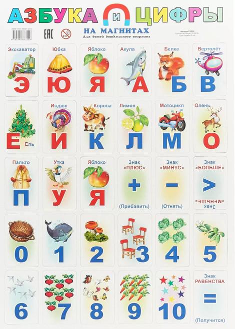 Азбука и цифры на магнитах/Alphabet and numbers on magnets