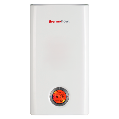 Thermoflow Elex 24 Electric Tankless Water Heater,24kW at 240 Volts, Instant Hot Water Heater with Self-Modulating Temperature Technology for Whole House