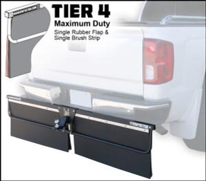 Tier 4 (Maximum Duty Single Rubber Flap and Single Brush Strip)